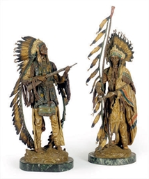 TWO COLD-PAINTED BRONZE FIGURE