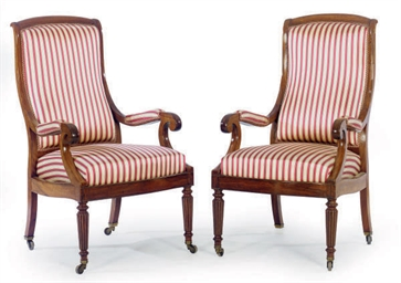 A PAIR OF GEORGE IV ROSEWOOD A