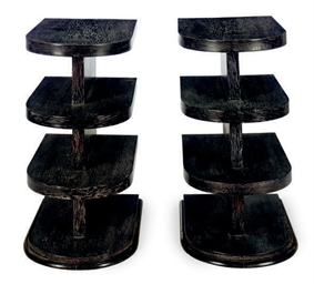 A PAIR OF FRENCH EBONIZED OAK