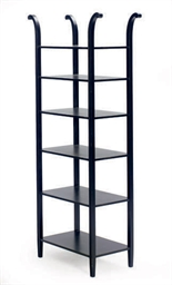 AN EBONIZED ETAGERE,