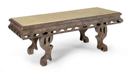 A FRENCH LIMED-OAK AND PARCHME