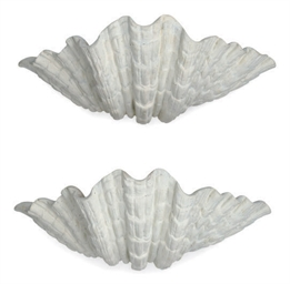 A PAIR OF COMPOSITION SHELL-FO