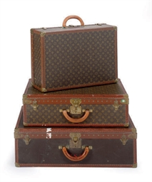 THREE LOUIS VUITTON SUITCASES,