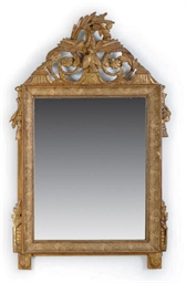 A FRENCH CARVED GILTWOOD AND C