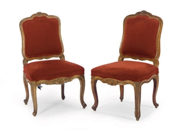 A PAIR OF LOUIS XV BEECHWOOD C