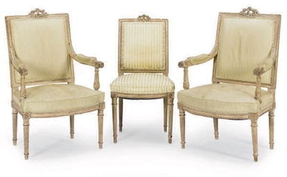 A PAIR OF FRENCH PAINTED FAUTU