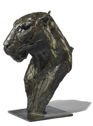 BRONZE LEOPARD HEAD II