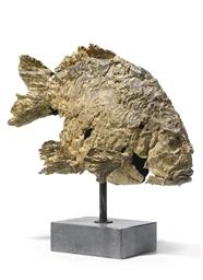 A BRONZE MODEL OF A FISH ENTIT