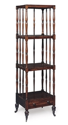 A REGENCY ROSEWOOD FOUR-TIER W