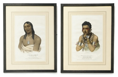 TWO HAND-COLOURED LITHOGRAPHS