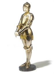 A FRENCH PARCEL-GILT SILVERED