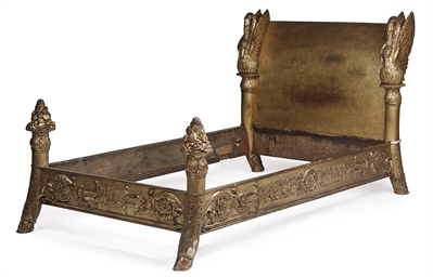 A LOUIS PHILIPPE GILT BED