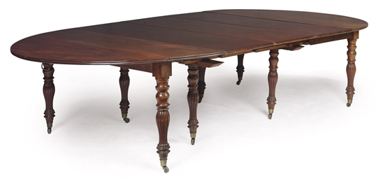 A CHARLES X MAHOGANY TABLE A D