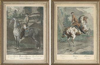 john elias ridinger 1698 1767 scenes of dressage from. Black Bedroom Furniture Sets. Home Design Ideas