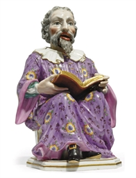 A MEISSEN FIGURE OF A NODDING