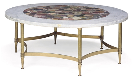 A SPECIMEN MARBLE LOW TABLE