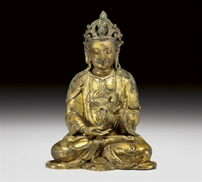 A GILT-BRONZE FIGURE OF AVALOK