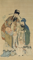 A LARGE KESI HANGING SCROLL OF