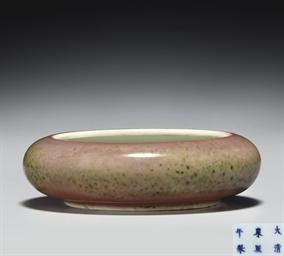 A PEACHBLOOM-GLAZED BRUSHWASHE