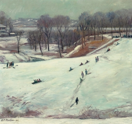 Sledding, Manayunk, Pennsylvan