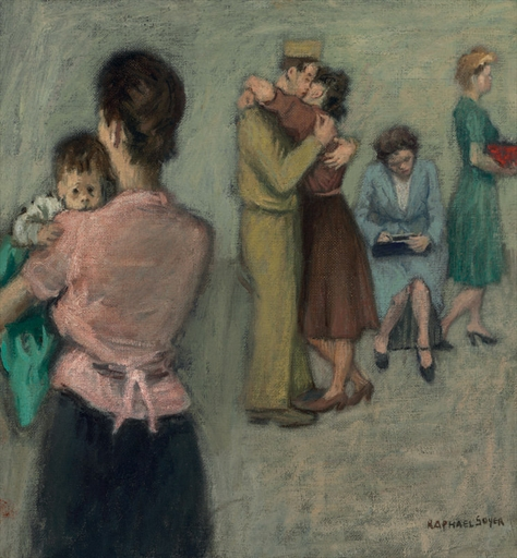 Art History News Raphael Soyer At Auction
