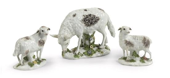 Three Meissen porcelain models
