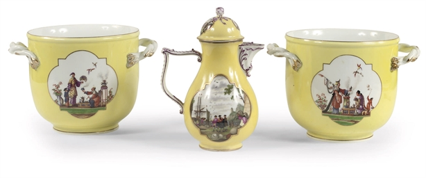 A Meissen porcelain yellow gro