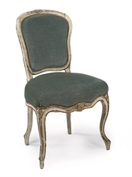 A pair of Louis XV parcel-gilt