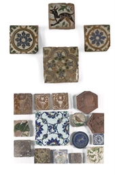 An assorted lot of tiles