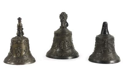 Three bronze table bells
