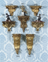 A PAIR OF ITALIAN GILT-VARNISH
