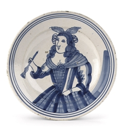 A Frisian Maiolica blue and wh