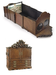 A DUTCH PEEP BOX AND A COLLECT