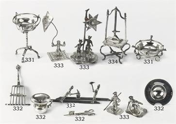 A set of four Dutch silver min