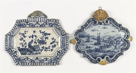 Two Dutch Delft plaques