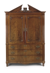 A Dutch mahogany cabinet
