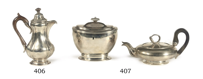 A Russian silver coffee-pot an