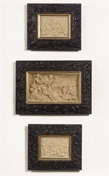 THREE VARIOUS WAX RELIEFS DEPI