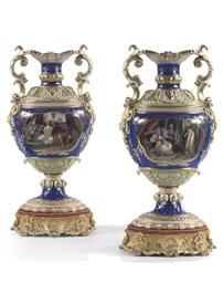 A pair of Paris porcelain neo-