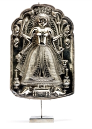 AN INDIAN SILVER DEVOTIONAL PL