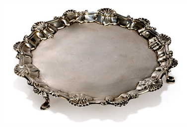 A GEORGE III SMALL SILVER SALV