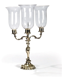 A VICTORIAN ELECTROPLATED THRE