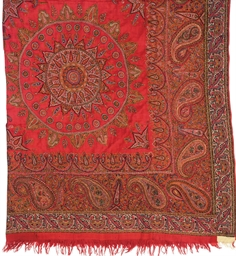 AN AMLI SHAWL OF RED PASHMINA