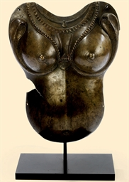 A NORTH INDIA BRONZE BREASTPLA