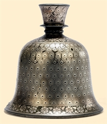 AN INDIAN BIDRI BELL-SHAPED HO