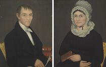 A Pair of Portraits of Mr. William Shuneman and Mrs. Eliza Demyer Shuneman, circa 1819