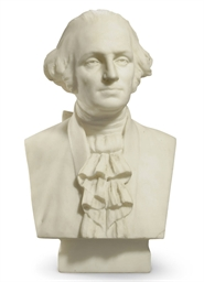 A Carved Marble Bust of George