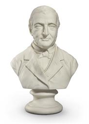 A Parian Ware Bust of Ralph Wa