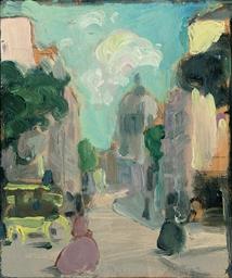 Promenade, Sacre Coeur, (recto
