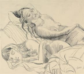 Sunita and Anita Asleep